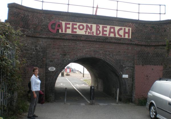 The other approach to The Cafe on the Beach