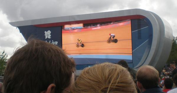 Kenny in the Sprint on the big screen