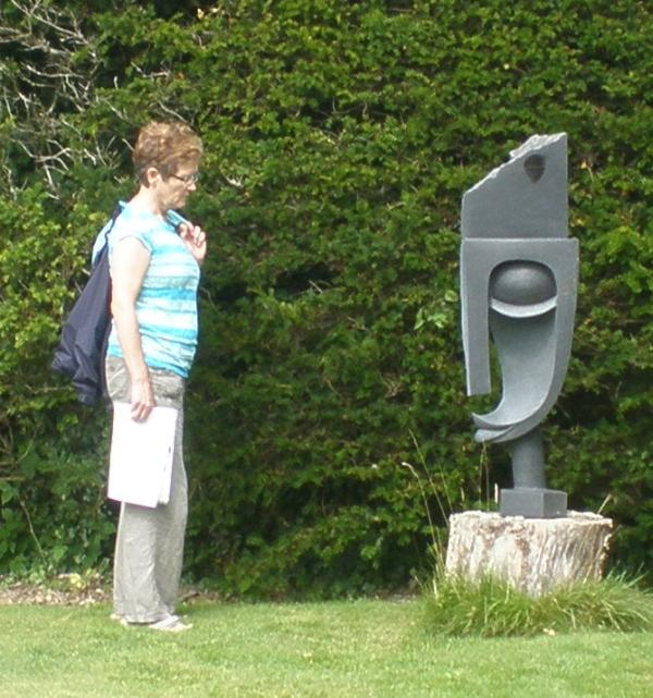 Pat and sculpture