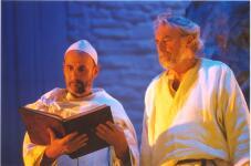 Peter Baio as the Norman with Derek Chaplin as the Saxon