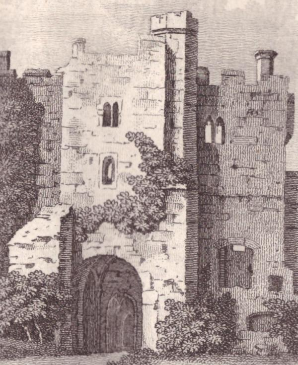 Close up of the gatehouse (1785)